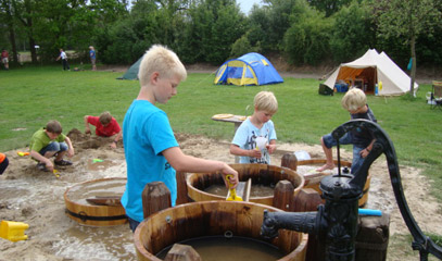 Waterspel camping